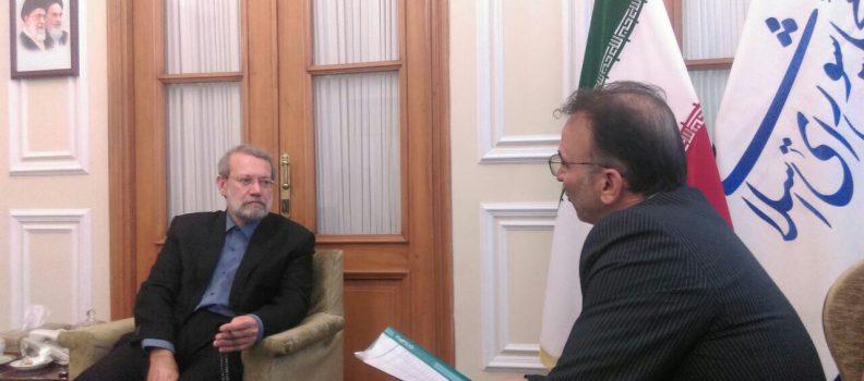 نشست مدیر عامل جمعیت خیریه امیدی دیگر با جناب آقای دکتر لاریجانی